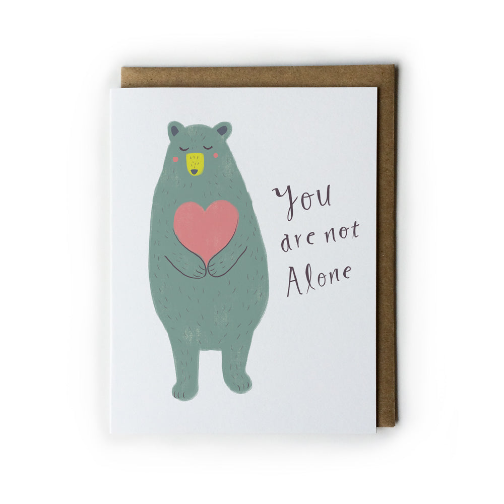 You Are Not Alone Bear Hugs Note Card