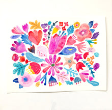 Pink & Red Flower Thank You Card