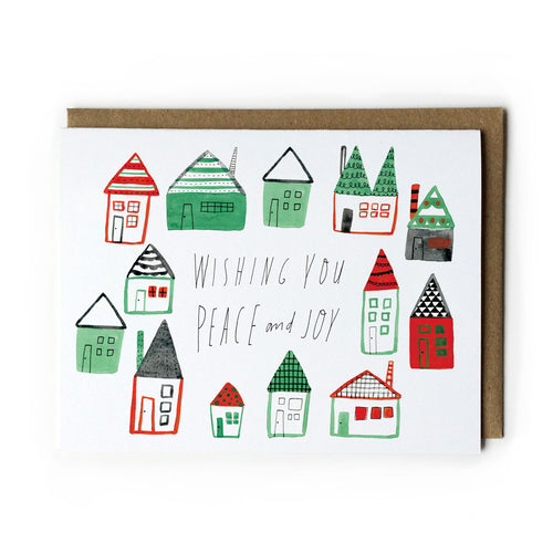 Peaceful Homes Holiday Greeting Card - Multiple Colors