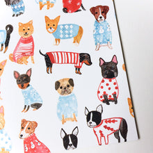 Doggies in Sweaters Holiday Greeting Card Set - Set of 8