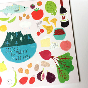 Foods of the Pacific Northwest Card
