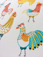 Rooster Friends Goclee Art Print