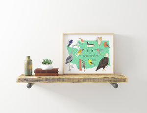 Birds of Washington, Giclee Art Print