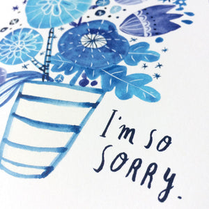 Blue Bouquet Sympathy Card