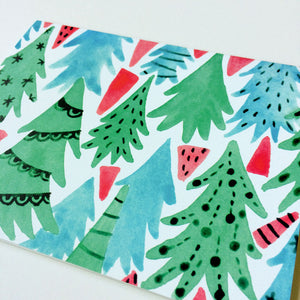 Christmas Forest Holiday Greeting Card
