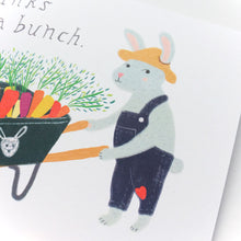 Bunny Carrot Bunch Thank You Card