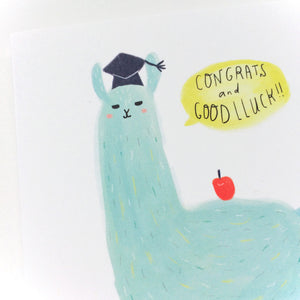 Good Luck Llama Graduation Card