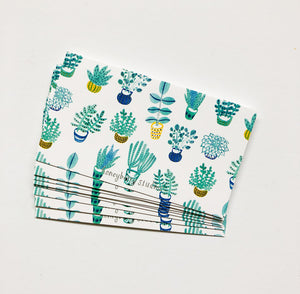 Succulents Tiny Notes (Set of 10)