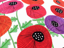 Red, Pink & Purple Poppies, Giclee Art Print