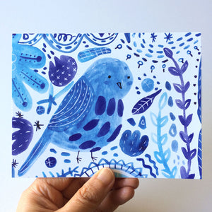 Bluebird of Happiness Notecard