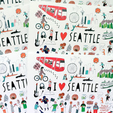 I Heart Seattle Greeting Card