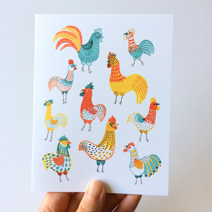 Rooster Friends Notecards