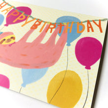 Party Sloth Birthday Card