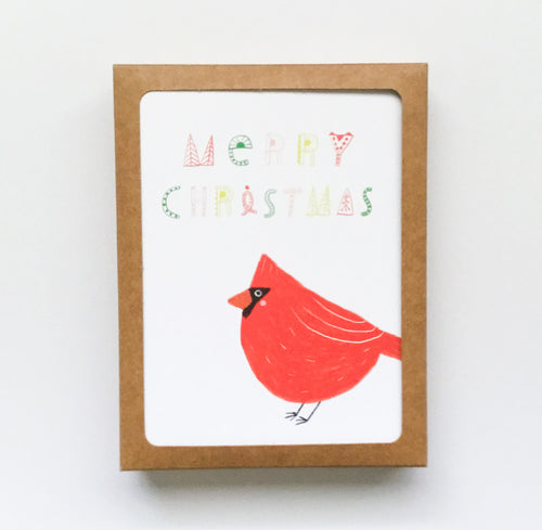 Cardinal Merry Christmas Greeting Card Set - Set of 8