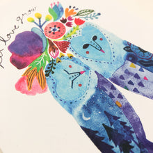 Barn Owl Let Love Grow Card