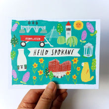 Hello Spokane Greeting Card