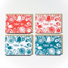 Botanical Thank You Flat Card Set - Set of 12