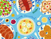 Foods of Hanukkah Holiday Greeting Card