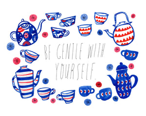 Be Gentle with Yourself, Giclee Art Print