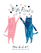 Cats High Five Card