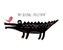We Belong Together, Croc & Bird Giclee Art Print