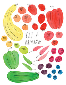 Eat a Rainbow, Veggies Greeting Card