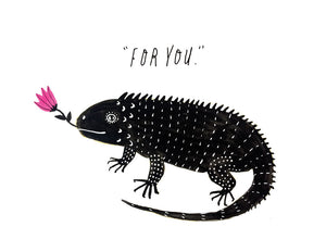 Iguana Flower for You Card