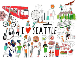 I Heart Seattle, Giclee Art Print