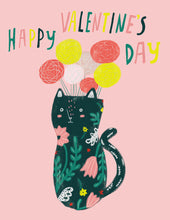 Kitty Flower Vase Valentine's Day Card