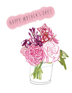 Pink Bouquet Mother's Day Card