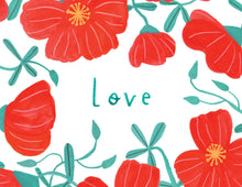Red Flower Love Greeting Card