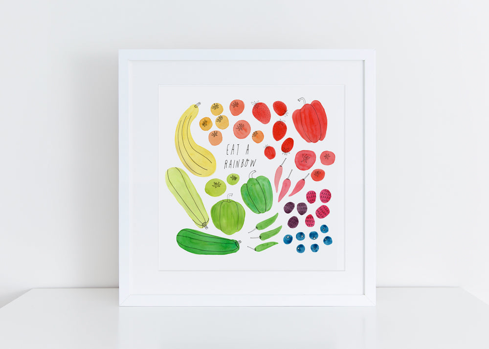 Eat a Rainbow, Giclee Art Print