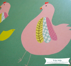 Chicks and Hen Mother's Day Card