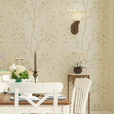 Vintage Country Floral 3D Wallpaper