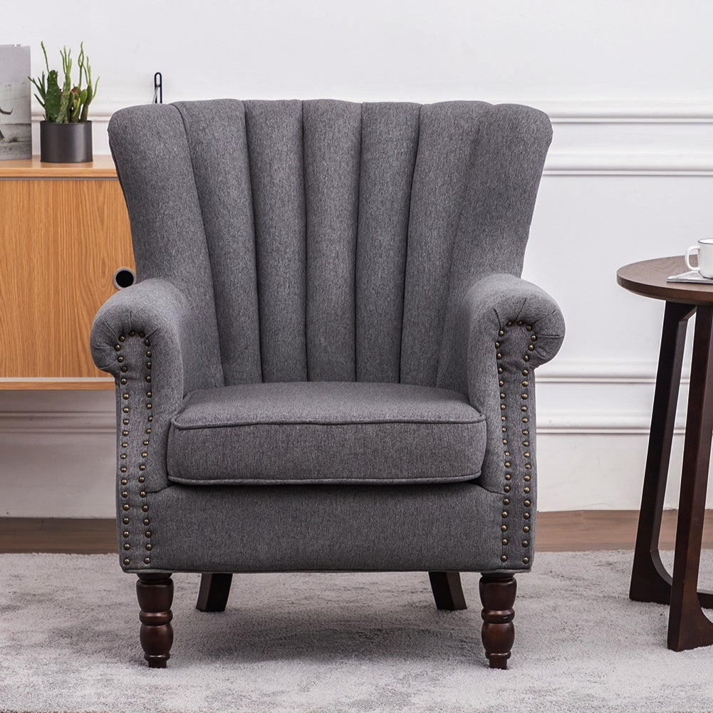 Pleated Wingback Armchair