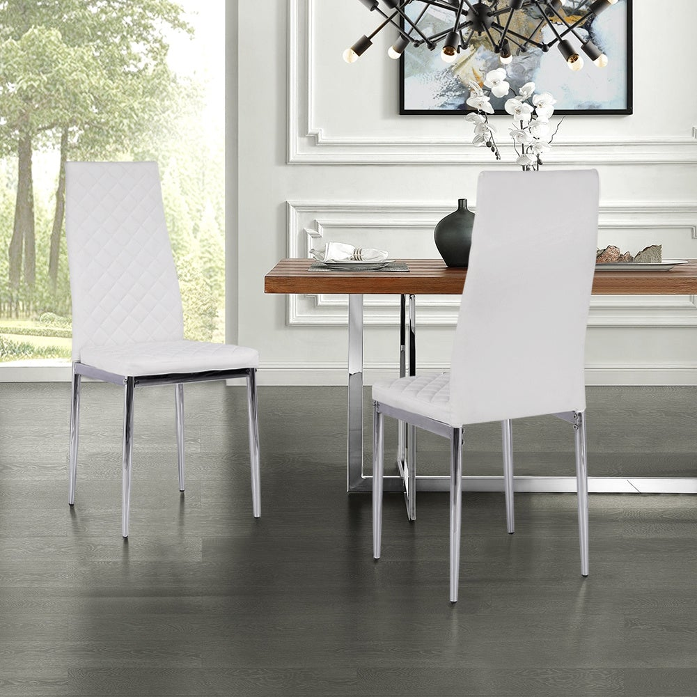 Set of 2 Grid Dining Chairs