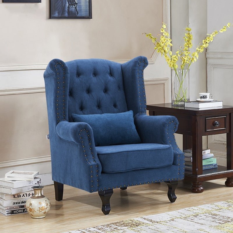 Chesterfield Queen High Back Chair With Cushion
