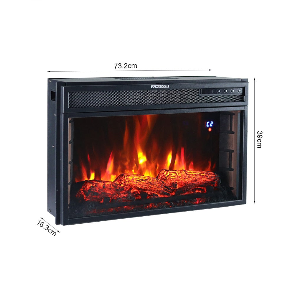 28 Inch Inset Electric LED Fireplace Heater 7 Flame Colours