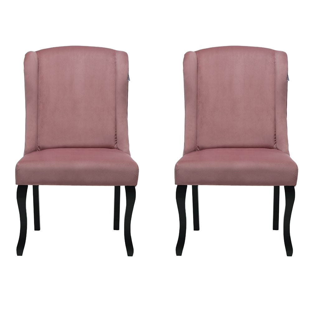 Set of 2 Velvet Dining Chairs