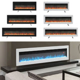 LED Electric Wall Fireplace 9 Flame Colours with Freestanding Leg