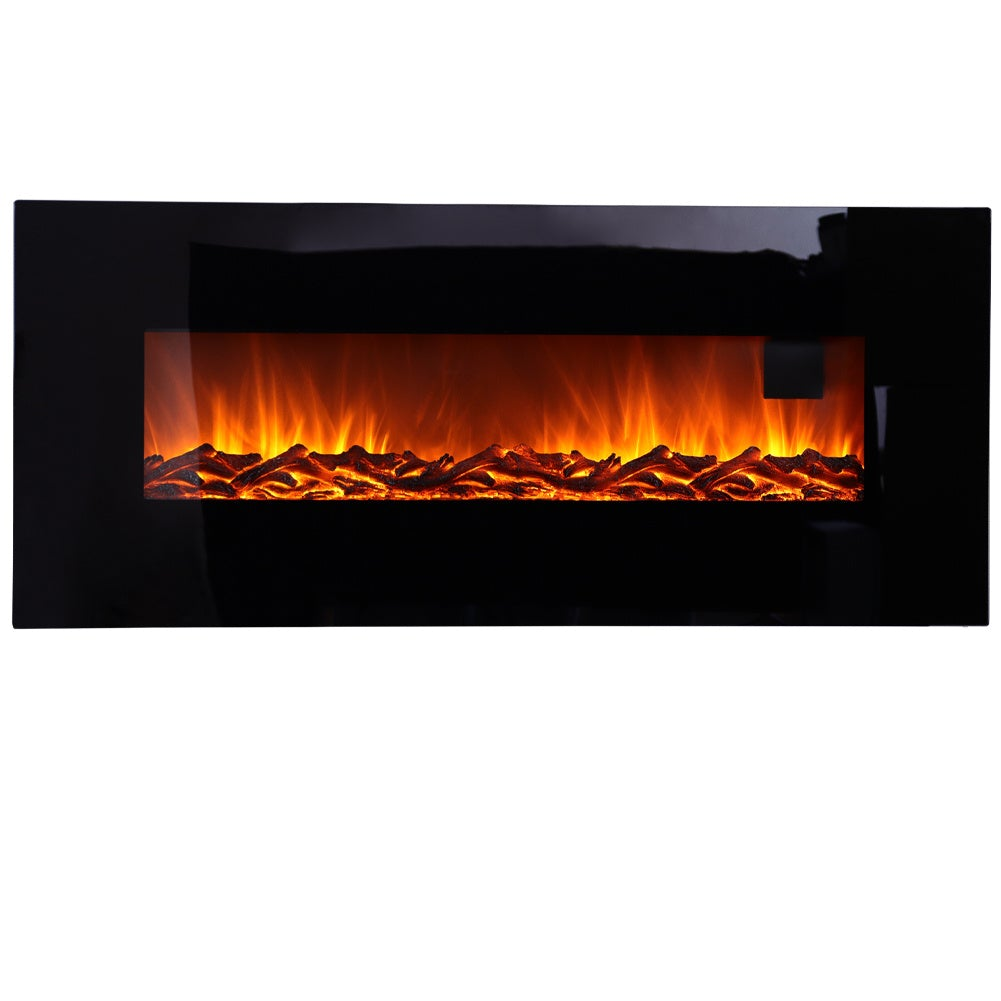 50 inch LCD Electric Fireplace Heater Remote Control Adjustable Flame