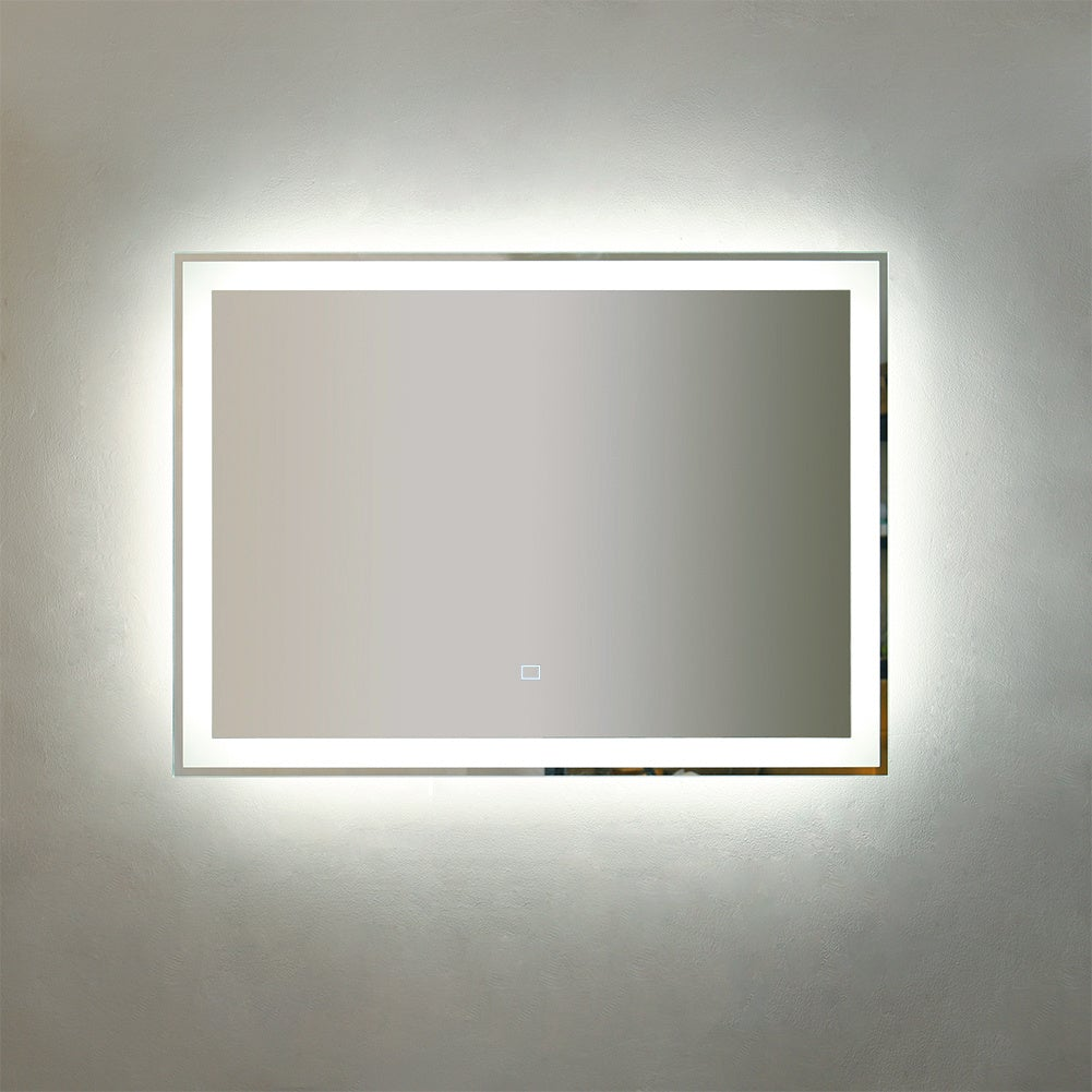 Rectangle LED Illuminated Bathroom Mirror