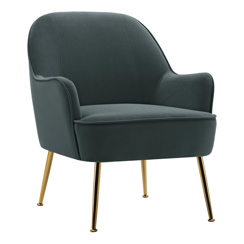 Leisure Velvet Armchair