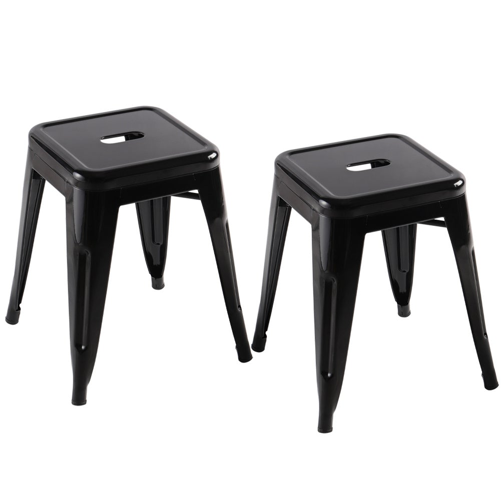 Set of 2/4 Black Metal Dining Chairs