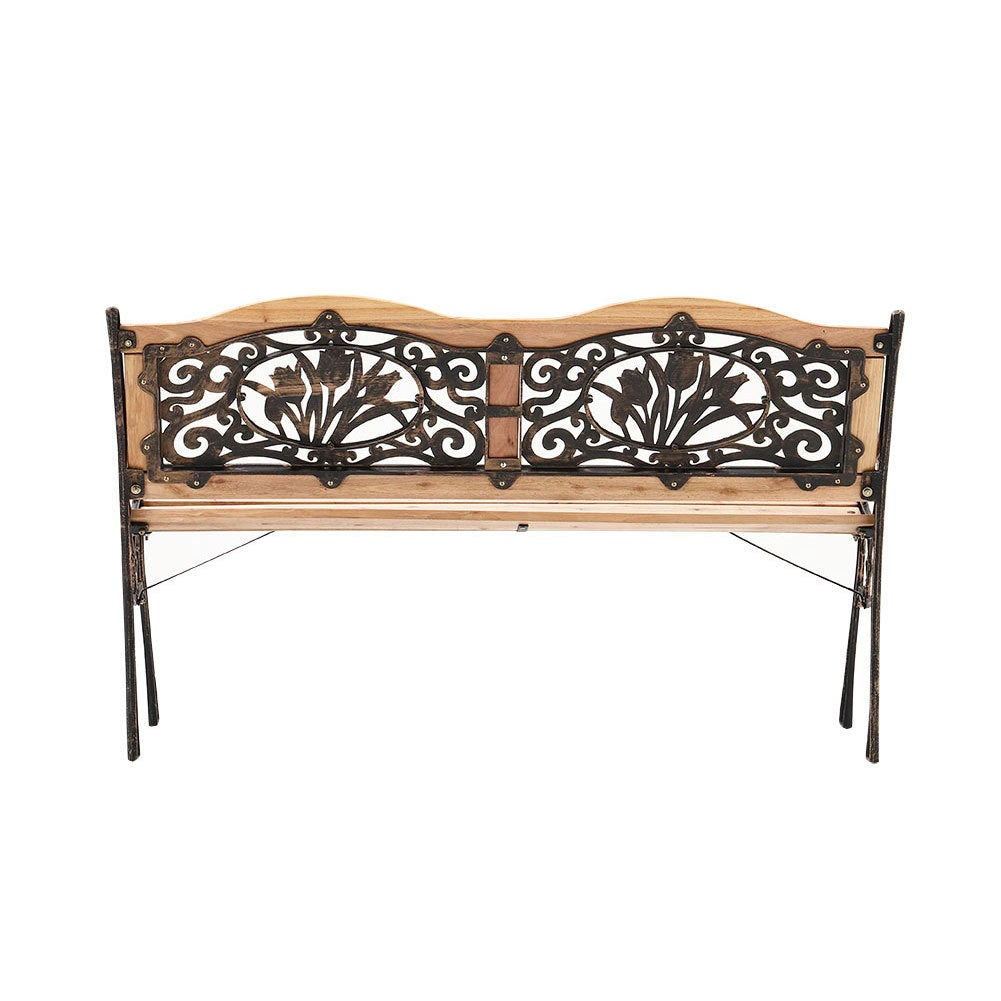 Blooming Patio Bench - Park Yard Outdoor Furniture