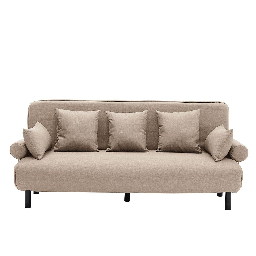 Linen Recliner Folding 3 Seater Sofa Bed
