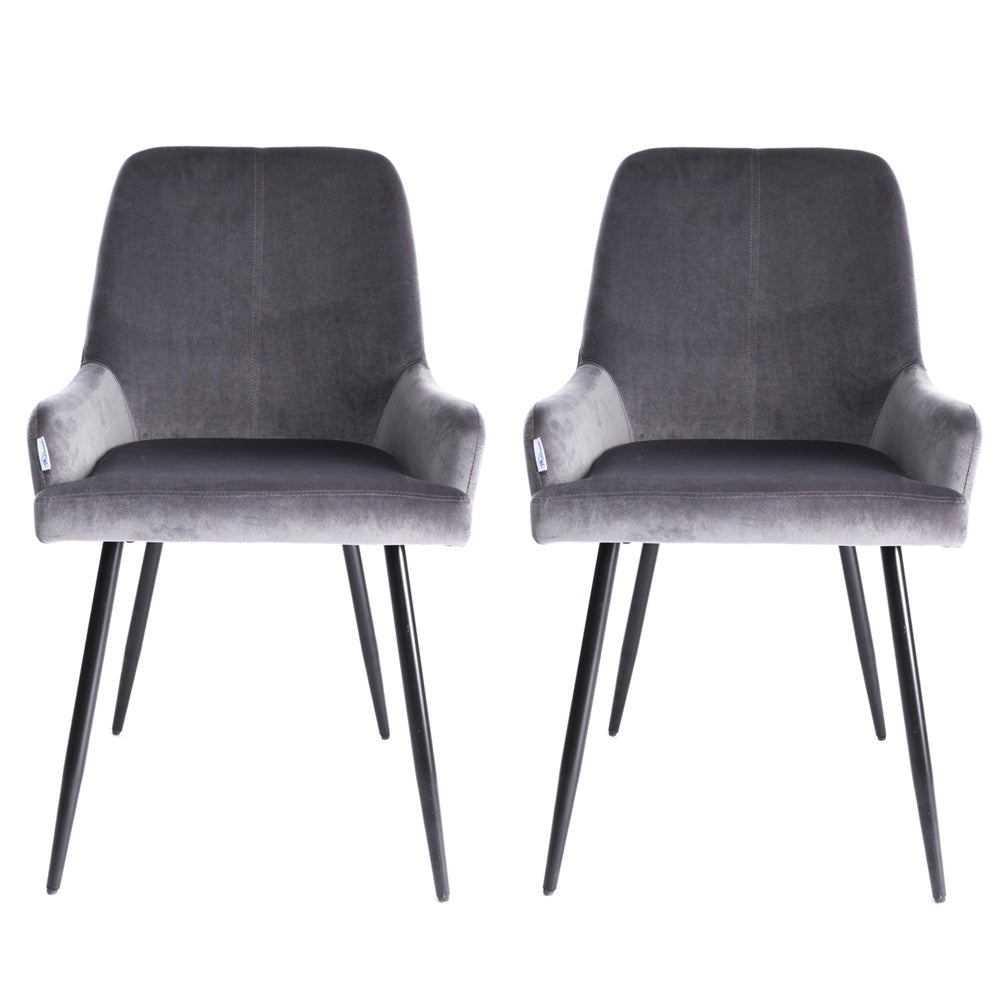 Set of 2 Velvet Leisure Dining Chairs