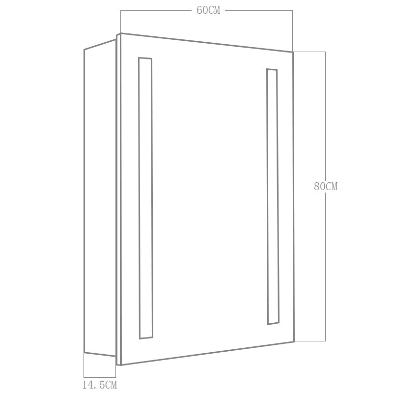 Rectangle LED Illuminated Bathroom Mirror Cabinet (31.50Inch)