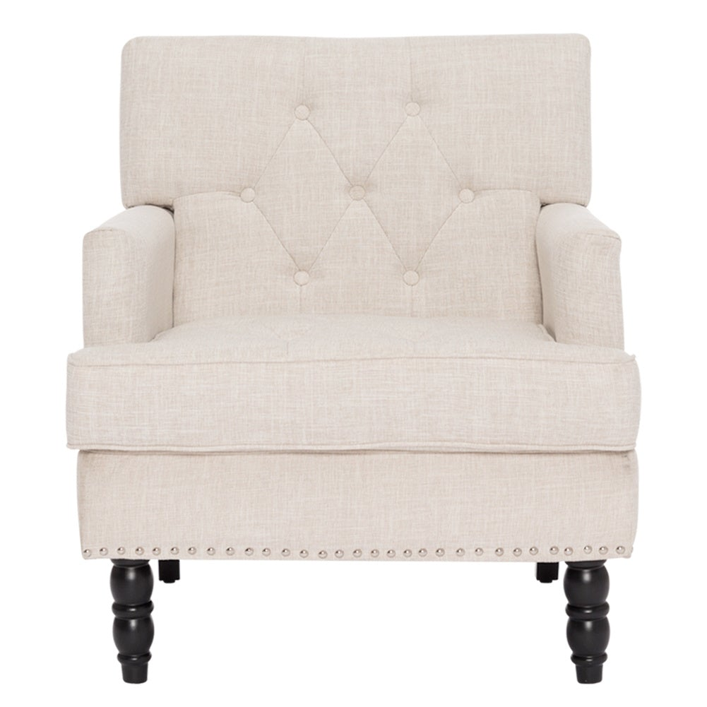 Poly Fabric Buttoned Armchair