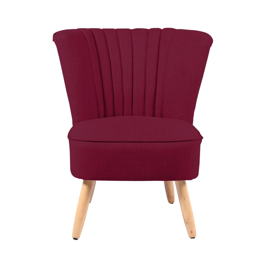 Linen Cocktail Accent Chair